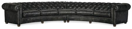 Hooker Furniture SS Series SS419LSC096 Sectional Sofa Black, Silo Image