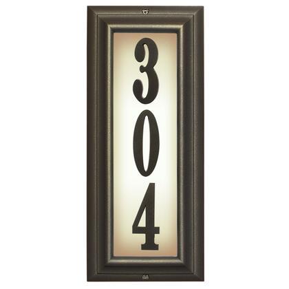 Qualarc Edgewood LTV1303ORB Address Plaques, LTV 1303 ORB