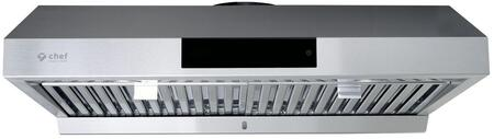 UC-PS18SS-36 36″ PS18 Under Cabinet Range Hood with 860 CFM  Delay Shut-Off  Baffle Filters and LED Lighting in Stainless