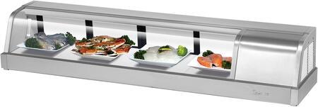 Turbo Air SAK60RN Display and Merchandising Refrigerator Stainless Steel, SAK60RN Angled View