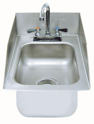 Advance Tabco  DI110SP1X Commercial Drop in  Weld In and Undermount Sink Stainless Steel, Drop In Sink with Back and Side Splashes