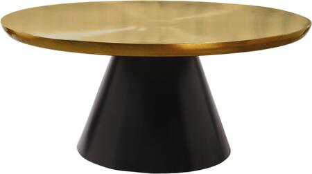 Martini 240-C 36″ x 36″ Coffee Table with Brushed Gold Metal Top and Matte Black