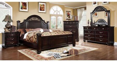Furniture of America Syracuse CM7129CKBDMCN Bedroom Set Brown, Main Image