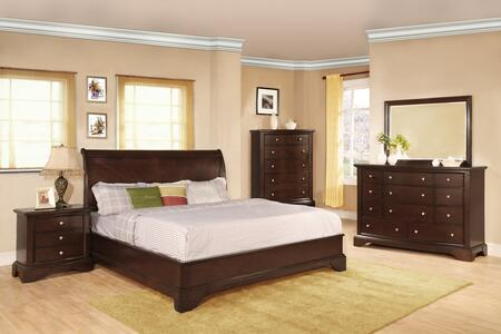 Myco Furniture Century Collection 5 PC Bedroom Set with King ...