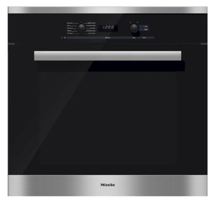Miele DirectSelect H6281BP Single Wall Oven Stainless Steel, Main Image