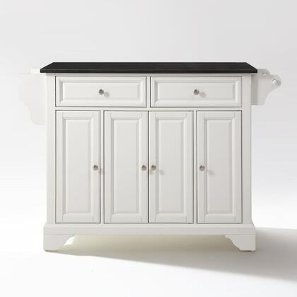 Lafayette Collection KF30004BWH Granite Top Island/Cart in White