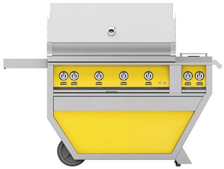 Hestan GSBR42CX2LPYW Liquid Propane Grill Yellow, Front View