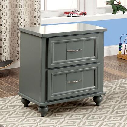 Furniture of America Lindsey CM7322GYN Nightstand , cm7322gy n