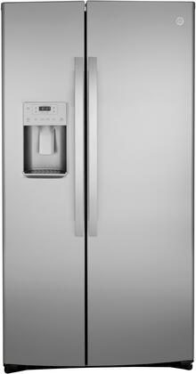 GE  GSS25IYNFS Side-By-Side Refrigerator Stainless Steel, GSS25IYNFS Front View