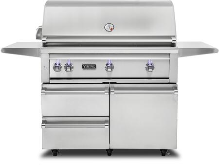 VQGFS5421NSS 42″ Freestanding Natural Gas Grill and Cart with ProSear Burner and Rotisserie  in Stainless