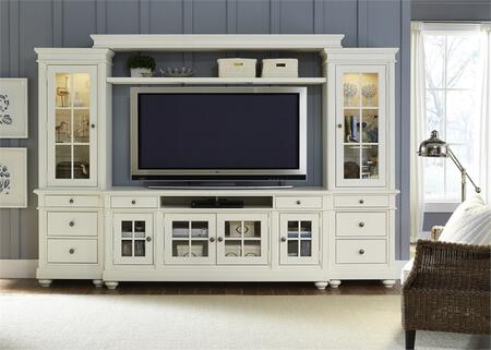 Liberty Furniture Harbor View 631ENTWOEC Entertainment Center White, Main Image
