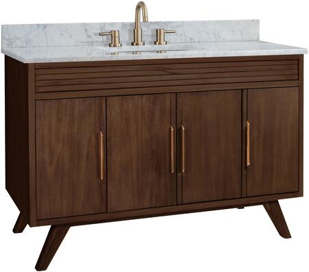 Avanity Taylor TAYLOR-VS49-BT 49″ Vanity Combo with 4 Doors  3 Shelves and Carrara White Marble Top and in Brown