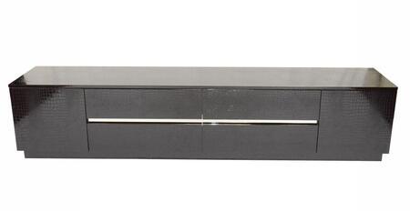 VIG Furniture A & X Skyline VGUNAK588230BLK 52 in. and Up TV Stand Black, 1