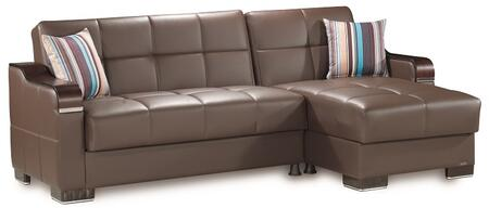 Casamode Down Town DOWNTOWNSECTIONALLCBROWNPU27448 Sectional Sofa Brown, Main Image