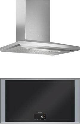 2 Piece Kitchen Appliances Package with CIT36XKB 36″ Electric Cooktop and HMCB36WS 36″ Wall Mount Convertible Hood in Stainless