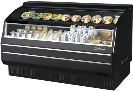 Turbo Air TOM60LBSPAN Display and Merchandising Refrigerator Black, TOM60LBSPAN Angled View