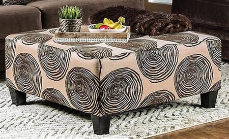 Furniture of America Bonaventura SM5142BROT Living Room Ottoman Brown, main image