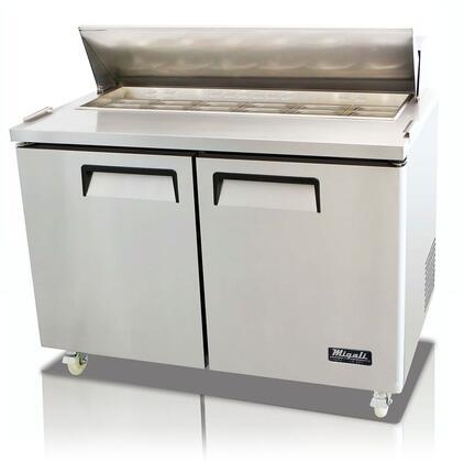 Migali Competitor CSP4812HC Prep Refrigerator Stainless Steel, Main Image