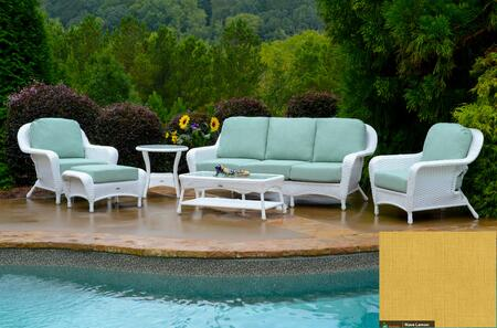 Tortuga Sea Pines LEX651WRAVEL Outdoor Patio Set White, LEX651WRAVEL Main Image
