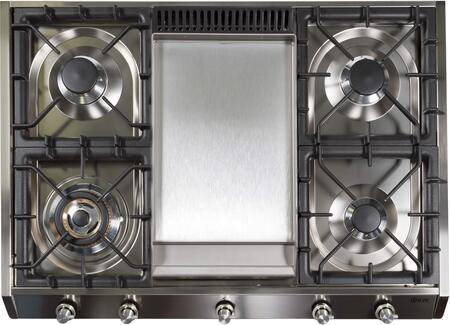 """Ilve  UHP965FDILP Gas Cooktop Stainless Steel, UHP965FDI 36"""" Cooktop"""