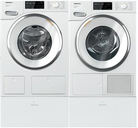 Miele  1447744 Washer & Dryer Set White, 1