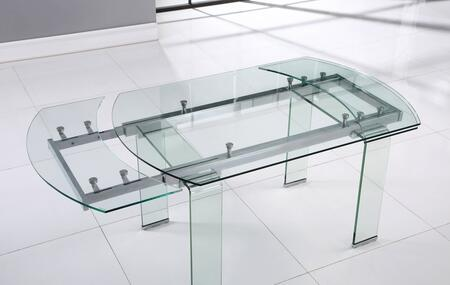 Global Furniture USA D2160 D2160DT Dining Room Table Clear, Main Image