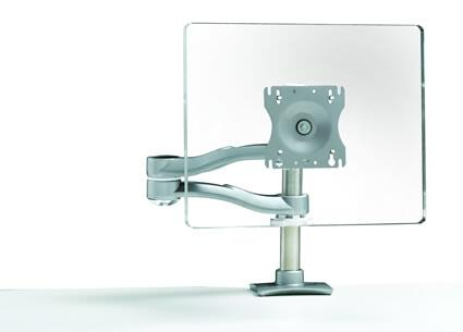 7915 Flat Screen Monitor Arm with 20″ Of Back and Forth Movement  Arm Swivels 360   Around The Base and Grommet Mount