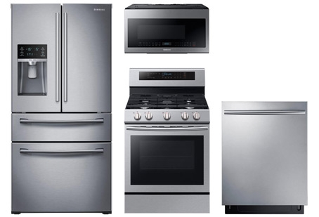 Samsung Stainless Steel 4pc Appliance Suite