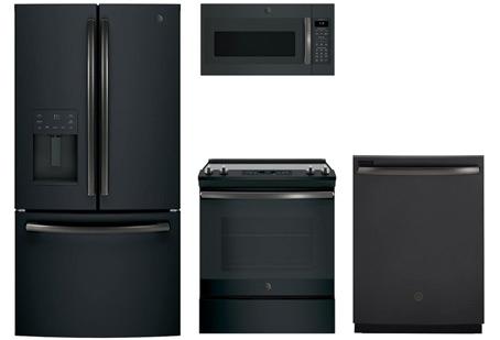 GE Black Slate 4pc Appliance Suite