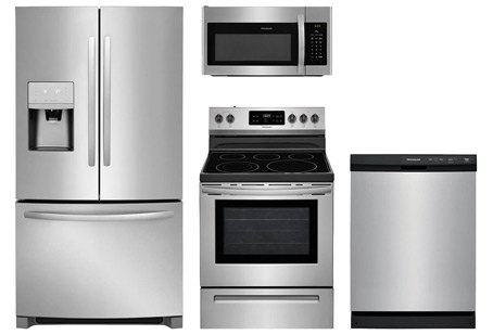 Frigidaire Stainless Steel 4pc Appliance Suite