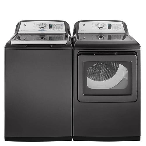 GE Diamond Gray Top Load Laundry Pair