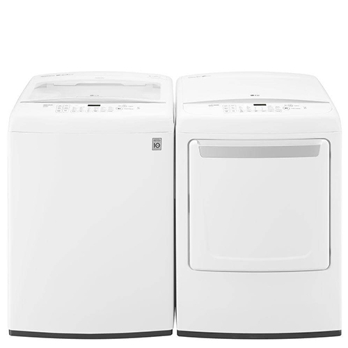 LG White Top Load Laundry Pair