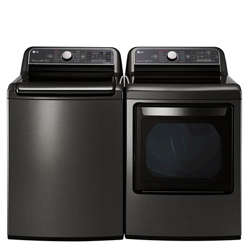 LG Black Stainless Top Load Laundry Pair