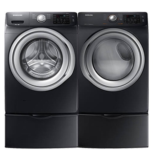 Samsung Front Load Black Stainless Laundry Pair