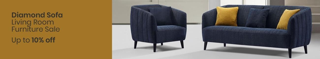 Spring Deal Diamond Sofa Living Room Furniture