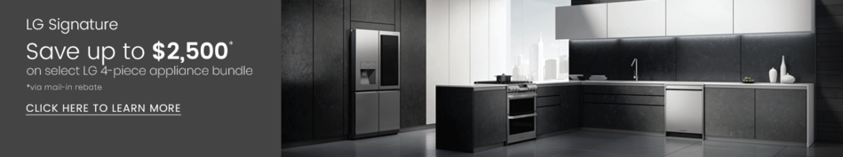 LG Signature - Save Up to $2,500 on Select 4-piece Appliance Bundle
