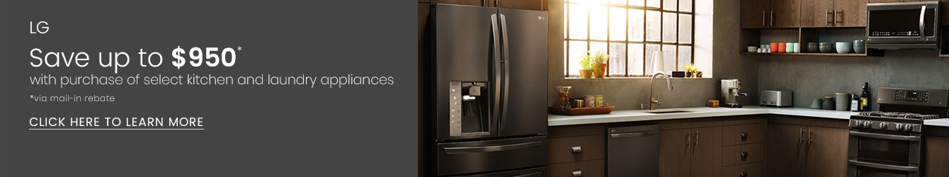 LG - Save Up to $950 With Purchase of Select LG Kitchen and Laundry Appliances