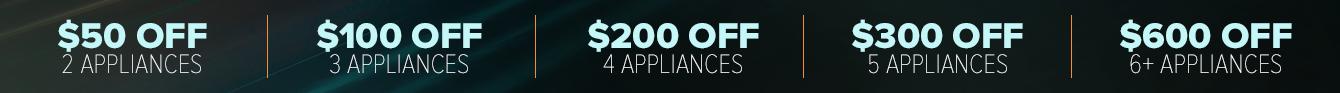 instant savings when bundling appliances
