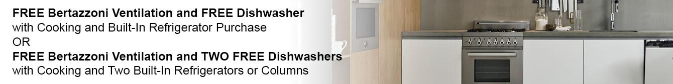 Free Bertazzoni Ventilation and Free Dishwasher
