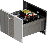 Alfresco Insulated Ice Drawer and Beverage Center