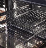 Exclusive self-clean, (2 full-extension, 1 regular) oven racks