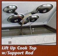 Lift Up Cook Top with Support Rod