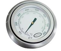 Dome Thermometer with Chrome Bezel