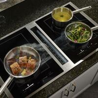 Downdraft Ventilation with Induction Cooktop