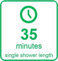 35 Minutes Single Shower Length