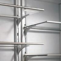 Adjustable Frameless Glass Shelves