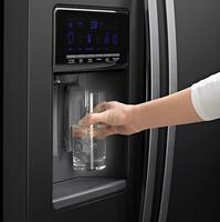 Flush Exterior Filtered Water and Ice Dispenser