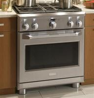 "Largest 30"" all-gas professional oven capacity"