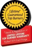 Exclusive Lifetime Guaranteed Top Burners