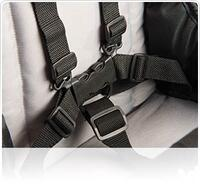 Adjustable five-point harness